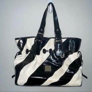 Dooney & Bourke Rare Black/White Stripe Chiara Purse
